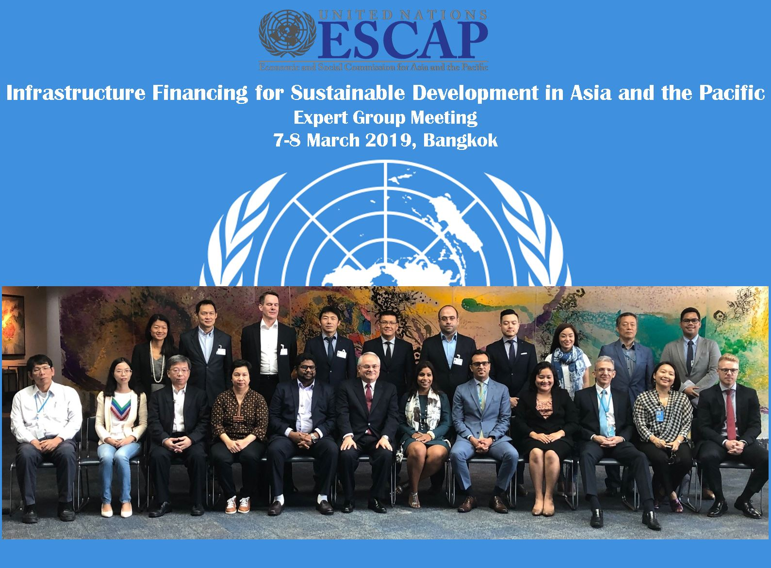 Dr Hossein Nourzad attended the United Nations ESCAP Expert Group meeting on Infrastructure Finance in Bangkok